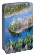 Manistee River Bend From Above Portable Battery Charger