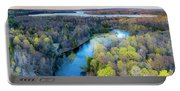 Manistee River Evening Aerial Portable Battery Charger