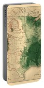 Map Of American Forests 1883 Portable Battery Charger