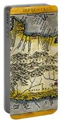 Map Of Crete 1584 Portable Battery Charger
