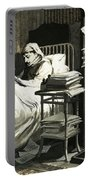 Marcel Proust Sat In Bed Writing Remembrance Of Things Past Portable Battery Charger