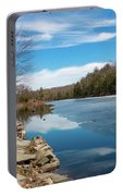 March Morning At Sanctuary Pond Portable Battery Charger