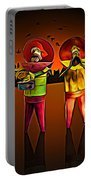 Mariachis Portable Battery Charger by Paul Wear