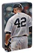 Mariano Rivera  New York Yankees Abstract Art 1 Portable Battery Charger