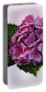 Maroon Hydrangea Portable Battery Charger