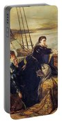 Mary, Queen Of Scots - The Farewell To France, 1867  Portable Battery Charger