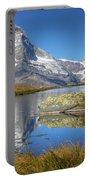Matterhorn From Lake Stelliesee 07, Switzerland Portable Battery Charger