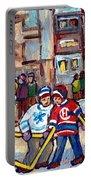 Mcgill University Roddick Gates Original Painting For Sale Hoockey Art C Spandau Canadian City Scene Portable Battery Charger