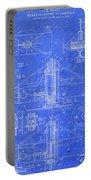 Merry Go Round Amusement Carousel Vintage Patent Blueprint Portable Battery Charger