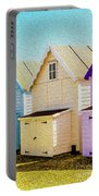 Mersea Island Beach Hut Oil Painting Look 6 Portable Battery Charger