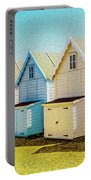 Mersea Island Beach Hut Oil Painting Look 9 Portable Battery Charger