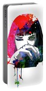 Mia Snorting Watercolor Portable Battery Charger