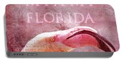 Miami Florida- Pink Flamingo Portable Battery Charger