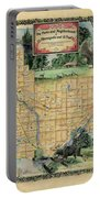 Minneapolis St. Paul Map Vintage Custom Map Art Hand Painted Portable Battery Charger