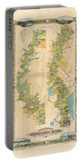 Mississippi River Historic Map Lousiana New Orleans Baton Rouge Map Farming Plantation Hand Painted  Portable Battery Charger