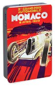 Monaco Grand Prix 1930, Vintage Racing Poster Portable Battery Charger