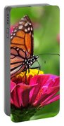 Monarch Visiting Zinnia Portable Battery Charger