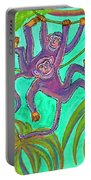 Monkeys On Creepers Portable Battery Charger