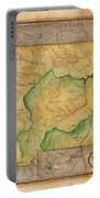 Montana Custom Map Art Rivers Map Hand Painted Portable Battery Charger
