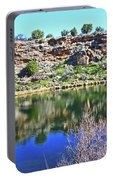 Montezuma's Well Az Water Blue Sky Reflections Stone Wall 3192019 5253. Portable Battery Charger