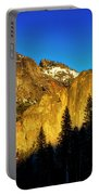 Moonrise Over Bridalveil  Falls Portable Battery Charger