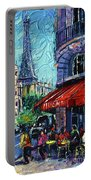 Morning In Paris Portable Battery Charger