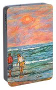Morning Stroll At Isle Of Palms Portable Battery Charger