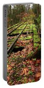 Mossy Train Tracks Portable Battery Charger