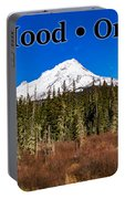 Mount Hood Oregon In Winter 01 Portable Battery Charger