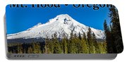 Mount Hood Oregon In Winter 02 Portable Battery Charger