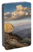 Mount Laguna Rocks And Sunset Portable Battery Charger