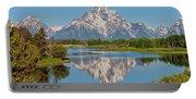 Mount Moran On Snake River Landscape Portable Battery Charger