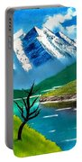 Mountain By The Lake Portable Battery Charger