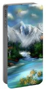 Mountains Majesty Portable Battery Charger