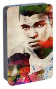 Muhammad Ali Watercolor Portrait Portable Battery Charger