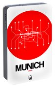 Munich Red Subway Map Portable Battery Charger