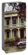 New Orleans Home In Watercolor Portable Battery Charger