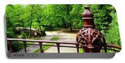 New York's Central Park Winterdale Arch Railing Cast Iron Art Portable Battery Charger