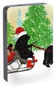 Newfoundland Dog Christmas Card Portable Battery Charger
