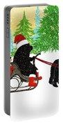 Newfoundland Dog Christmas Portable Battery Charger