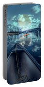 Night Blues Reflections  Portable Battery Charger