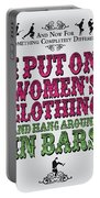 No09 My Silly Quote Poster Portable Battery Charger