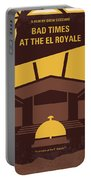 No1044 My Bad Times At The El Royale Minimal Movie Poster Portable Battery Charger