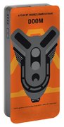 No1075 My Doom Minimal Movie Poster Portable Battery Charger