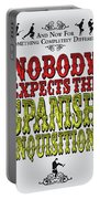 No17 My Silly Quote Poster Portable Battery Charger