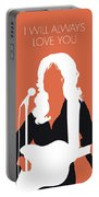 No273 My Dolly Parton Minimal Music Poster Portable Battery Charger