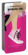 No987 My Working Girl Minimal Movie Poster Portable Battery Charger