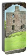 Norham Castle And Tower Through The Entrance Gate Portable Battery Charger