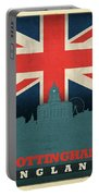 Nottingham England City Skyline Flag Portable Battery Charger