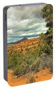 Oak Creek Baldwin Trail Blue Sky Clouds Red Rocks Scrub Vegetation Tree 0249 Portable Battery Charger